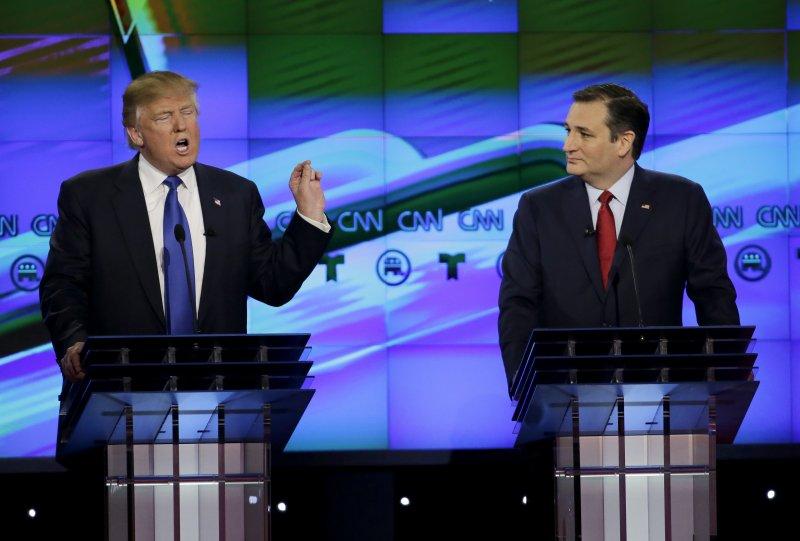 9月26日美國迎來2016總統大選第一場電視辯論。川普(美聯社)