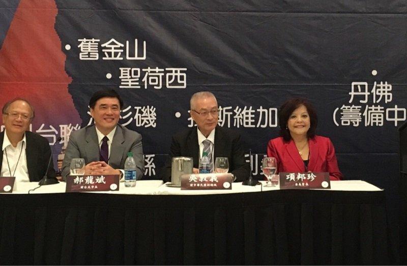 前副總統吳敦義在在表示,一中各表不能隨便亂動。(郝龍斌辦公室提供)