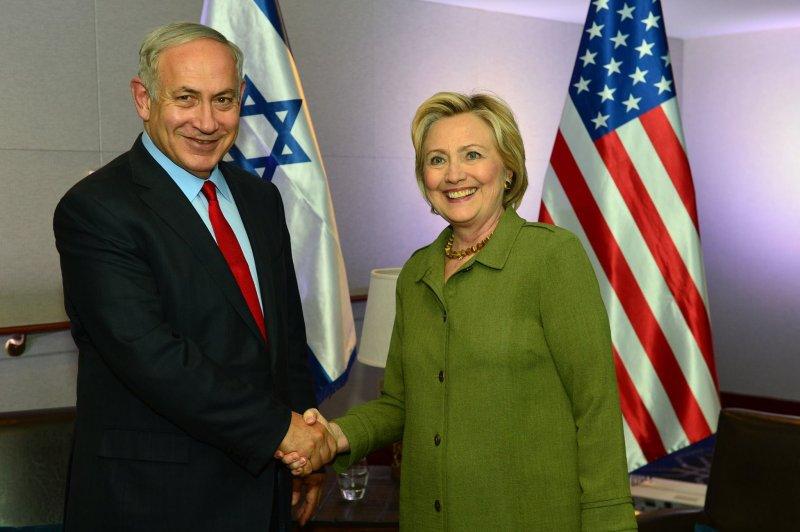 以色列總理納坦雅胡25日分別別與川普及希拉蕊會面。(圖/納坦雅胡粉絲頁)
