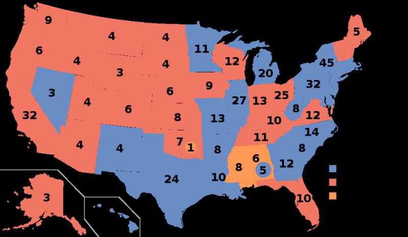 1960年史上第一次總統電視辯論,甘迺迪最後以0.1%的極小差距險勝尼克森。(圖/維基百科公有領域)