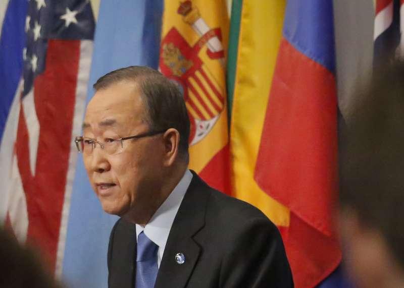 聯合國秘書長潘基文。(美聯社)