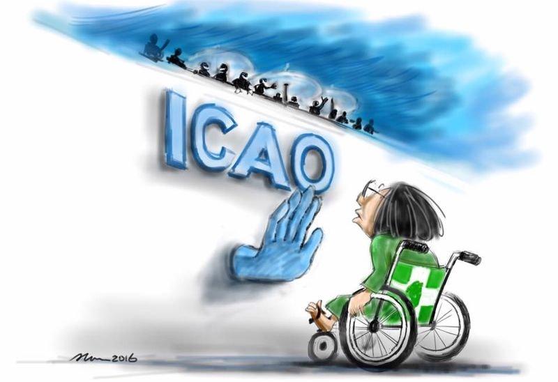 國際民航組織今年未發出邀請函給台灣。(梁綸武/插畫)