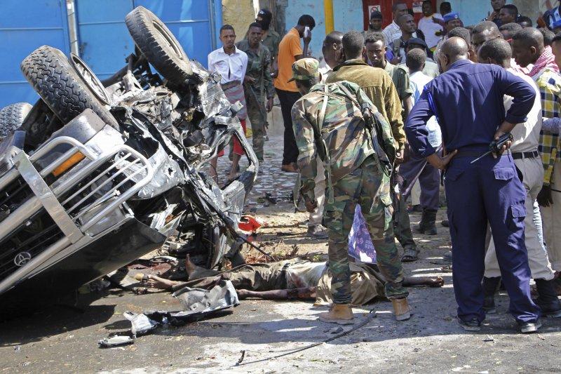 索馬利亞爆炸案。(美聯社)