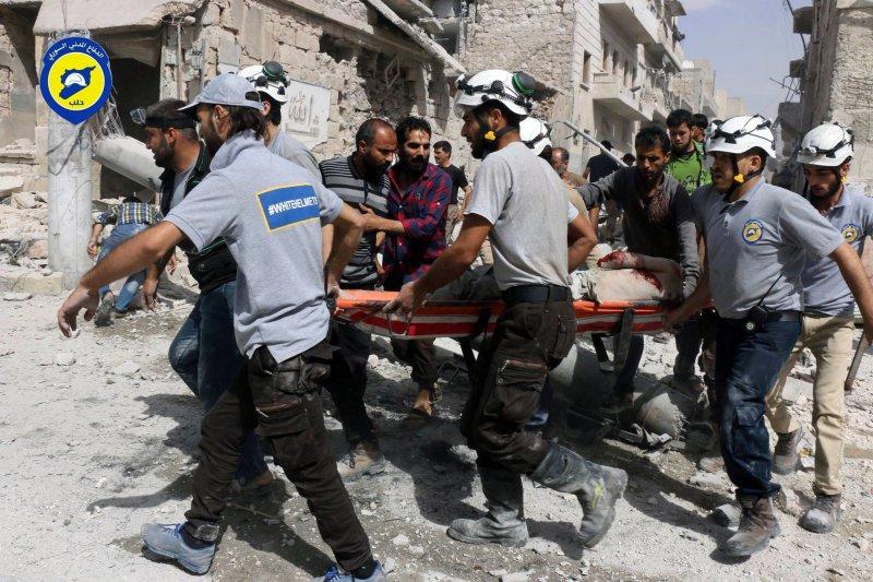 敘利亞白盔隊。(美聯社)