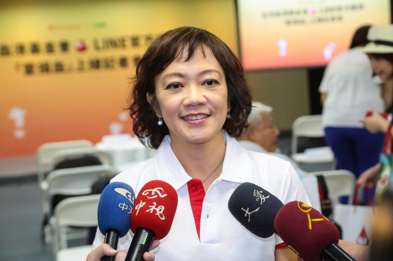 20161006-台灣血液基金會公關處長黎蕾6日出席「《愛捐血》LINE官方帳號上線,捐血問題LINE一下」記者會。(顏麟宇攝)
