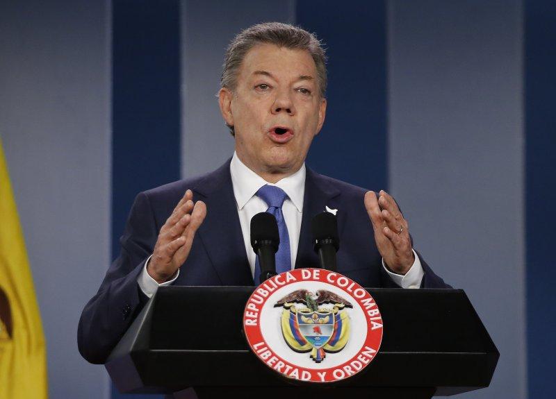 2016年諾貝爾和平獎得主,哥倫比亞得主桑托斯(Juan Manuel Santos)(AP)