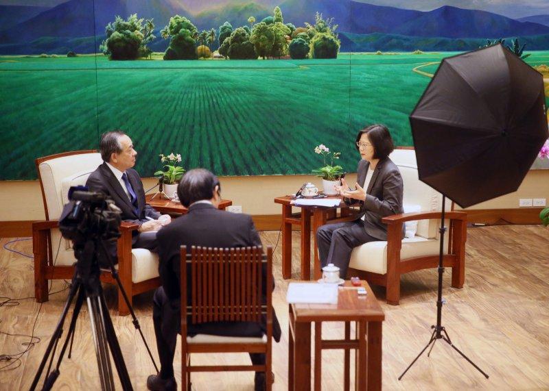 蔡英文總統6日接受日本《讀賣新聞》專訪(總統府)