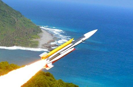 雄風三型超音速反艦飛彈,雄三飛彈。(取自中科院網站)