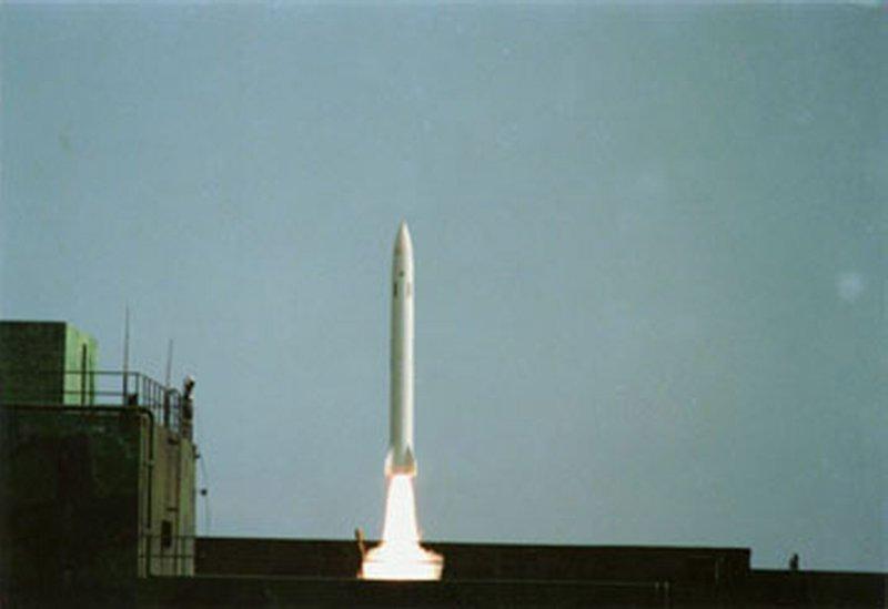 天弓二型飛彈發射。(取自中科院網站)