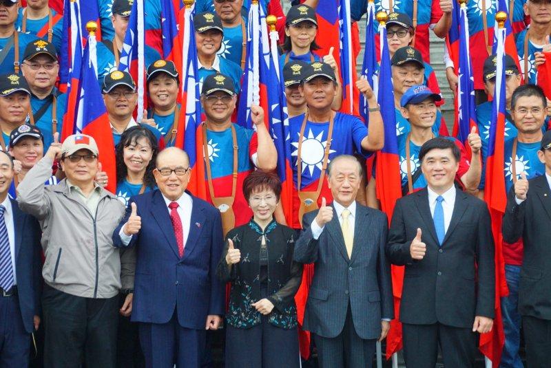 「我愛國旗嘉年華」國民黨主席洪秀柱、胡志強、郝柏村、郝龍斌、郁慕明出席