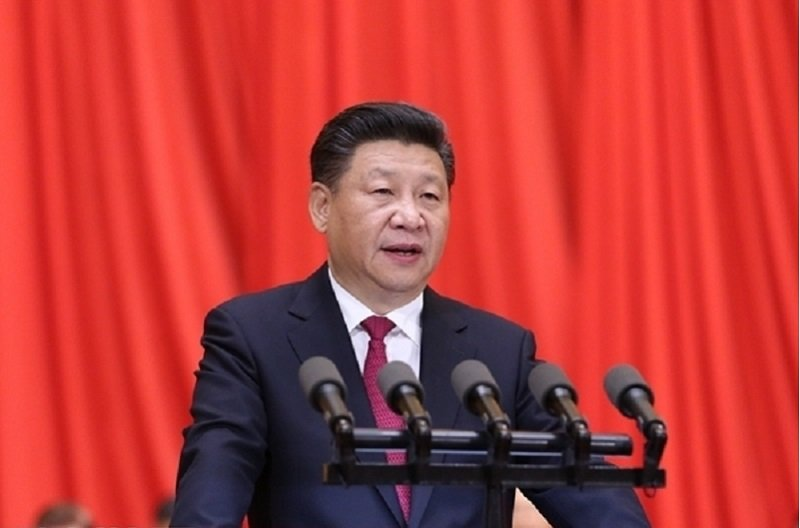 中國國家主席習近平在共產黨創黨九十五周年大會上呼籲黨人「不忘初心」。(新華社)