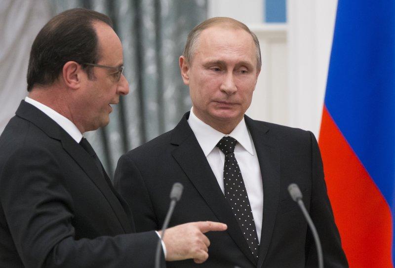 法國近日在敘利亞問題上與俄國多有齟齬,普京11日突然取消訪法行程。(美聯社)