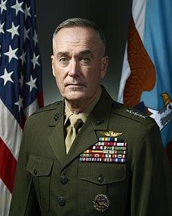 現任參謀長聯席會議主席Dunford,是參謀長聯席會議的首長,為美國總統、國防部部長、國家安全委員會和國土安全委員會的首席軍事顧問(取自維基百科)