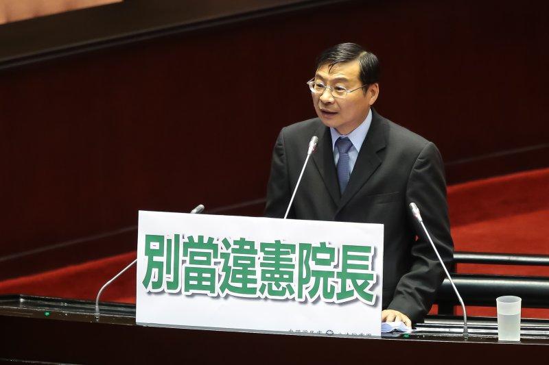 20161013-國民黨立委曾銘宗13日於立院針對司法院長被提名人許宗力質詢。(顏麟宇攝)