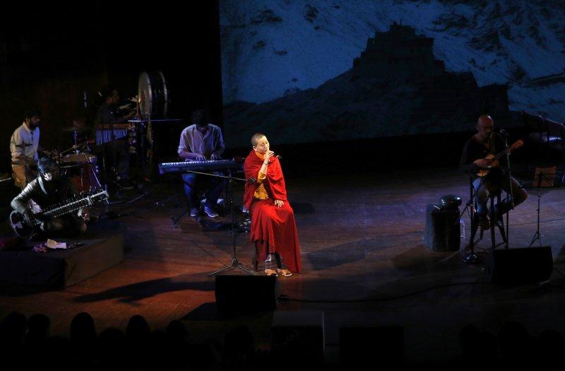 瓊英卓瑪的梵音演唱享譽國際。(美聯社)