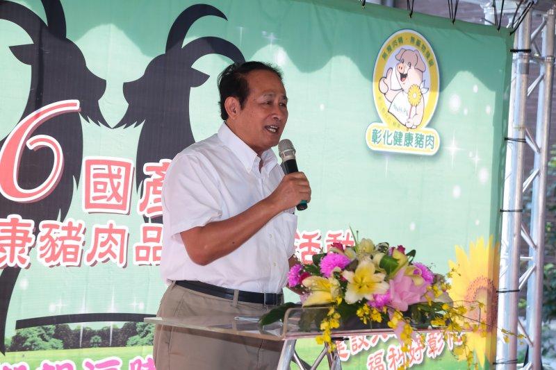 20161018-農委會主委曹啟鴻18日出席「彰化羊肉節」記者會。(顏麟宇攝)