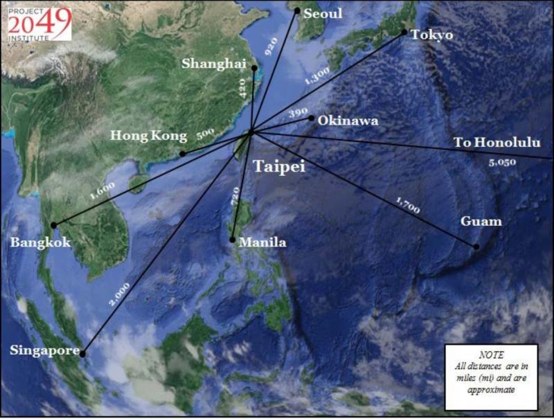 易思安在報告中強調台灣在東亞的重要戰略地位。(華盛頓智庫2049項目研究所官網)