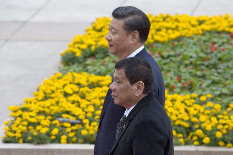 菲律賓總統杜特蒂上任後,毫不掩飾親中態度。(美聯社)