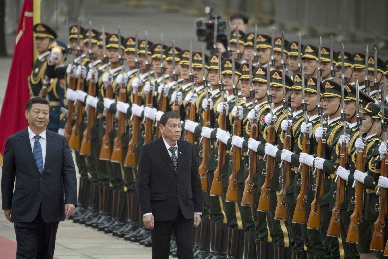 杜特蒂上任不到4個月,就決定出訪中國。(美聯社)