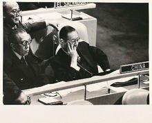 陳質平。1967年8月至1971年9月,出席第二十二屆至二十六屆聯合國大會代表。(取自網路)