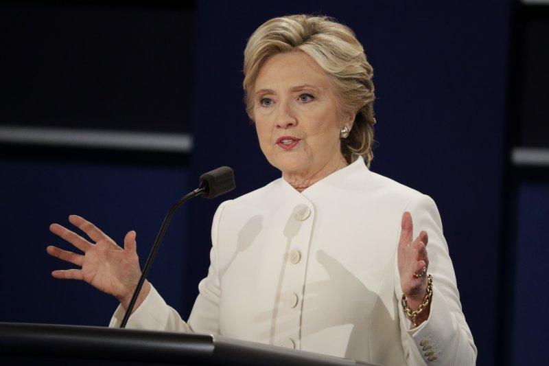2016美國總統大選第三場電視辯論。(美聯社)