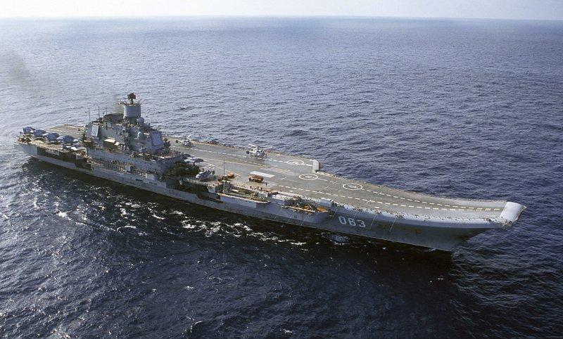 俄國海軍唯一的一艘航空母艦:庫茲涅佐夫號。(美聯社)