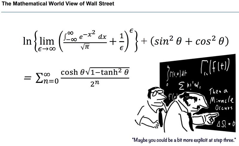 華爾街數學看世界漫畫。(作者提供)