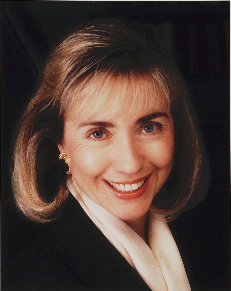 1992年的希拉蕊(取自Wikipedia/Public Domain)