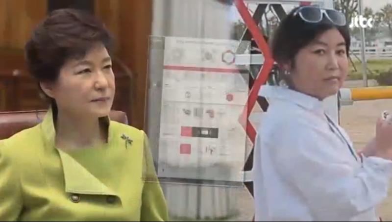 南韓朴槿惠(左)深陷「閨蜜」親信崔順實引發的貪腐、干政風暴(擷取JTBC畫面)