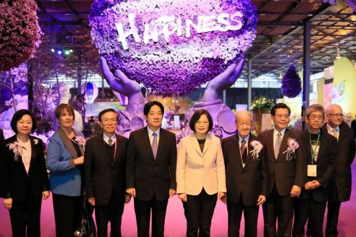 2016國際蘭展,蔡英文總統以總統當選人身份親往參加。(台南市政府)