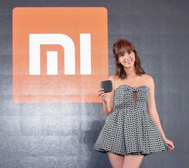 偶像劇女神魏蔓出席小米台灣新品發布會,分享使用小米盒子追劇心得。(圖/台灣小米提供)