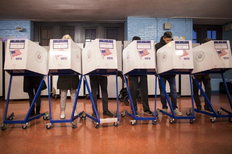2016美國總統大選8日開始投票。(美聯社)
