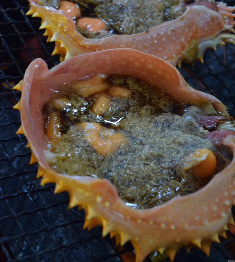 在蟹殼加入味噌料理的蟹膏,美味到不行!(圖/MATCHA提供)