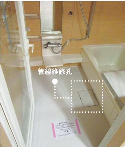 浴缸旁設置管線維修孔,不需打鑿就能輕易檢查、維修,既快速又方便,同時也不用擔心鑿破管線,或是濕式衛浴維修後常擔心的問題:回補材料無法完全相同或使用日久相同的材料卻產生色差。(圖/風和出版提供)
