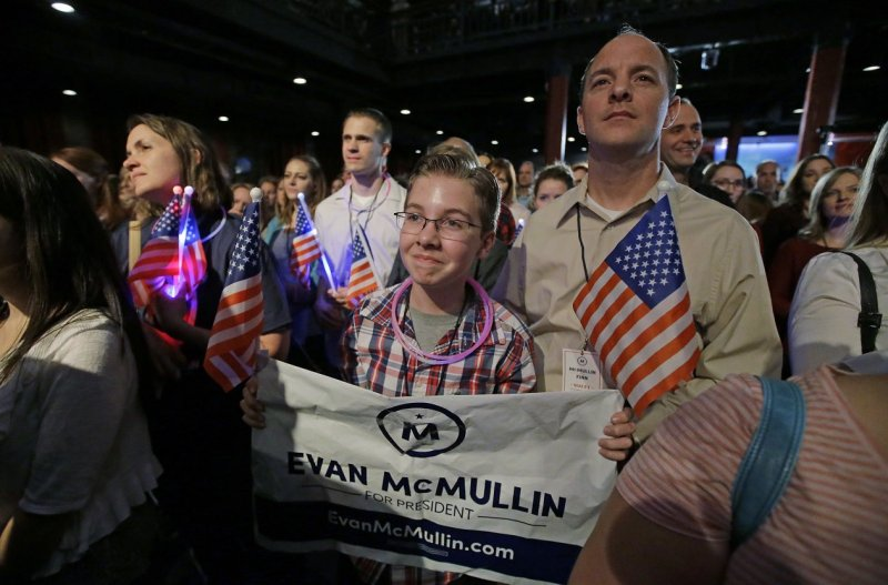 2016美國總統大選出爐,川普支持者狂喜寫在臉上。(美聯社)