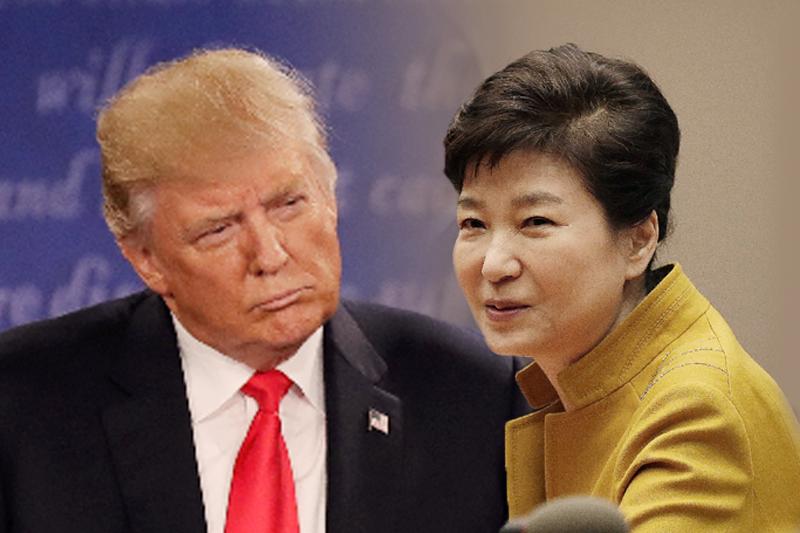 川普、朴槿惠,美韓關係。(風傳媒合成/圖片來源:美聯社)
