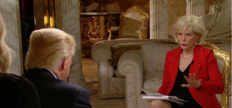 美國哥倫比亞廣播公司資深女主持人史塔爾訪問川普(翻攝YouTube)