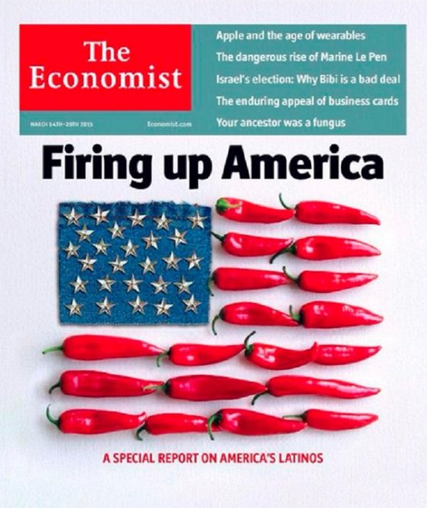 """""""How to fire up America,"""" The Economist, March 14, 2015(經濟學人封面翻攝)"""