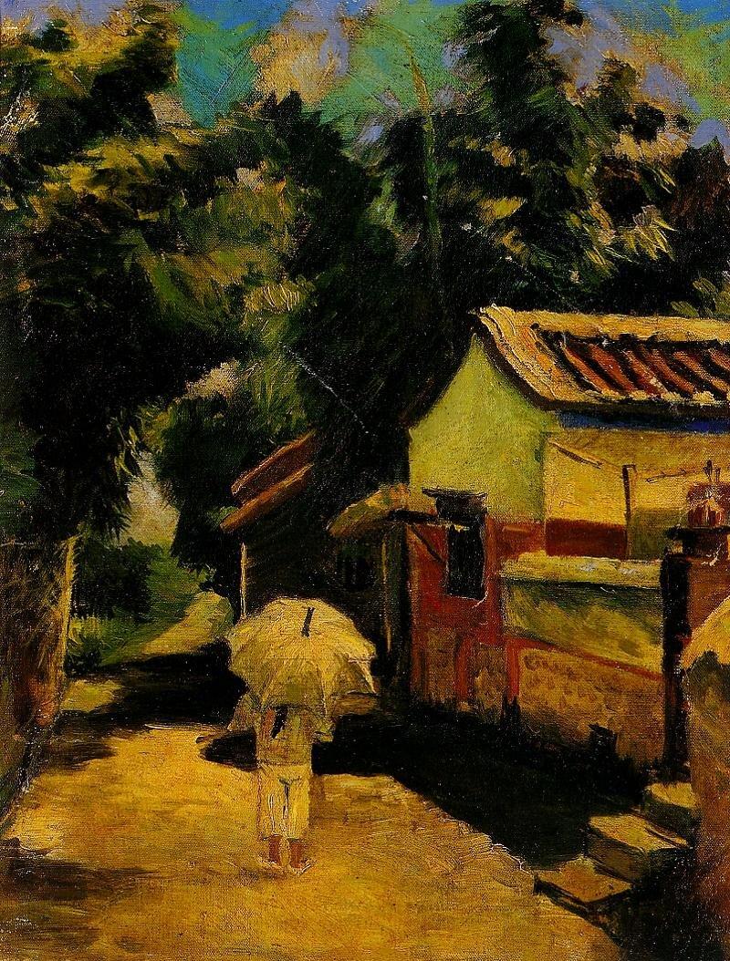 陳慧坤,《故鄉龍井》,1928。(圖片:網路美術館)