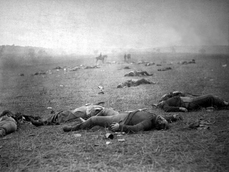蓋茲堡戰役死傷慘重,是為南北戰爭的轉捩點。(圖/維基百科公有領域)
