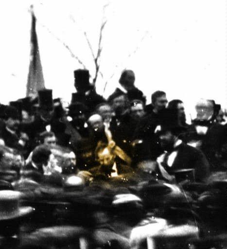 林肯在蓋茲堡演說中唯一留下的一張照片。(圖/維基百科公有領域)