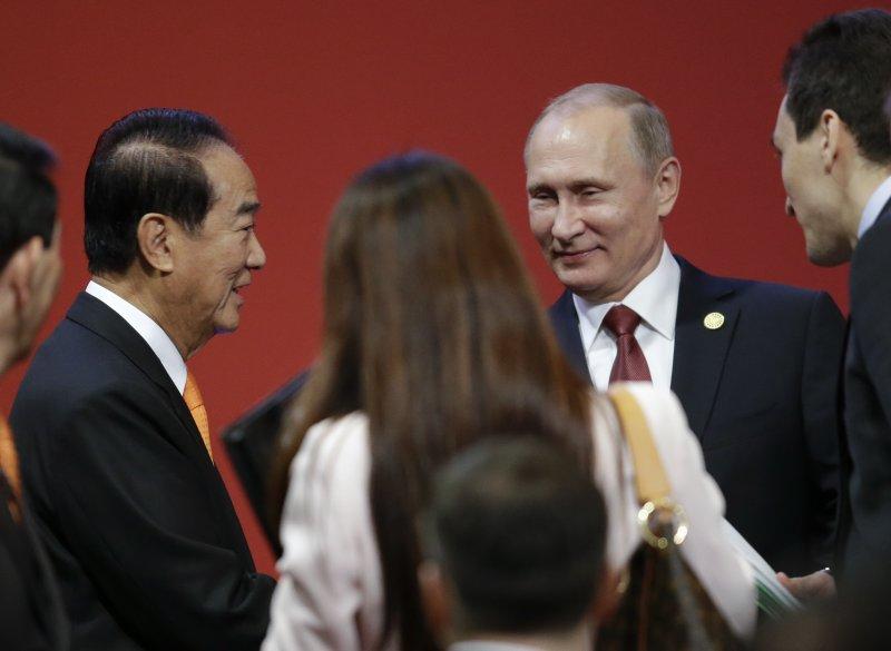 2016年APEC經濟領袖會議在祕魯首都利馬登場,台灣代表宋楚瑜會見俄羅斯總統普京(AP)