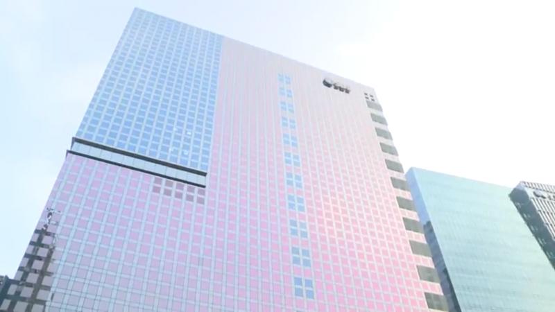 首爾上岩洞中心的現代建築。(圖/run@seoul@youtube)