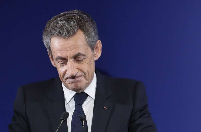 法國前總統薩科齊在共和黨初選首輪投票失利(美聯社)