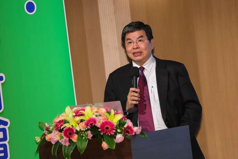 20161122-國泰金控總經理李長庚22日出席「支持綠能產業,發展綠色金融研討會」。(顏麟宇攝)