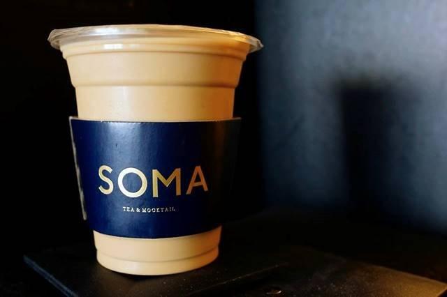 第一次喝可點招牌的「茶歐雷系列」。(圖/SOMA 特調飲品@facebook,Klook提供)