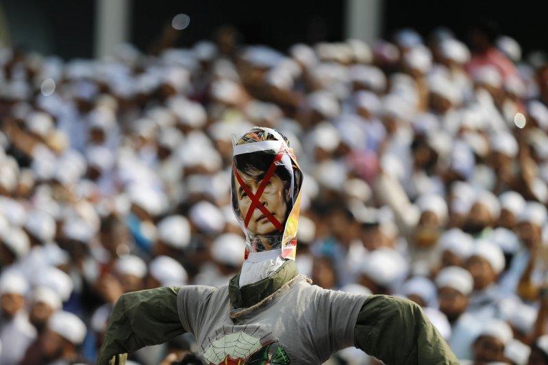 羅興亞人,孟加拉,穆斯林,抗議,緬甸。(美聯社)