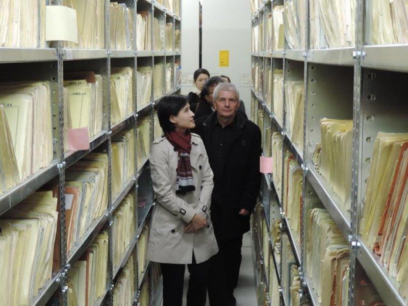 鄭麗君赴德參訪史塔西檔案局,了解德國轉型正義經驗。(文化部提供)