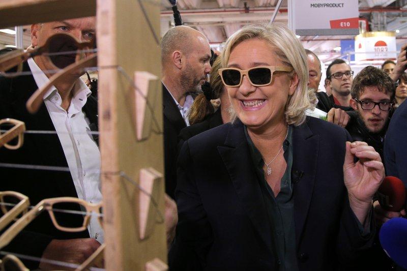 法國極右派政黨民族陣線的主席勒潘,參加「法國製造博覽會」。(美聯社)