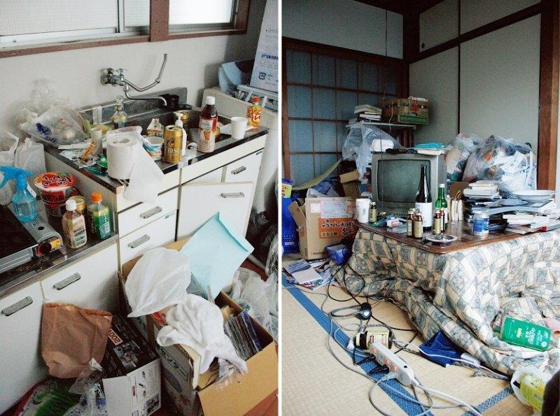 屋內空間還算寬敞,不過卻堆滿東西,仲保昭廣表示下班回家後也沒有餘力去整理,就變成現在這樣了。(圖/時報出版提供)